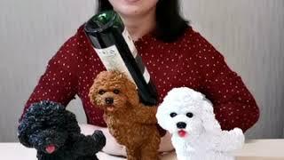 귀여운 강아지 모형 와인랙 와인거치대 18cm x 11…