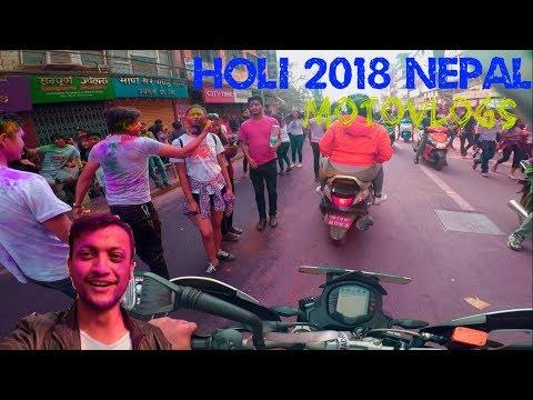 HOLI 2018 IN KATHMANDU NEPAL
