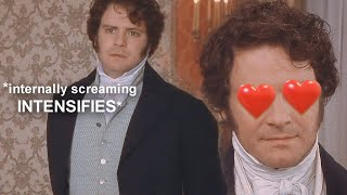 Mr. Darcy obsessively staring at his future wife for almost 6 minutes straight