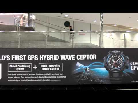 G SHOCK GPS HYBRID WAVE CEPTOR   GPW 1000 Large Billboard