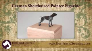 German Short-haired Pointer Figurine Urn