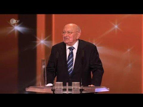 Marcel Reich-Ranicki lehnt deutschen Fernsehpreis ab (volle Länge)
