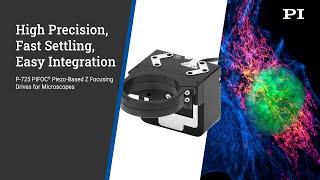 도립현미경 및 산업 애플리케이션을 위한 P-725 고정…