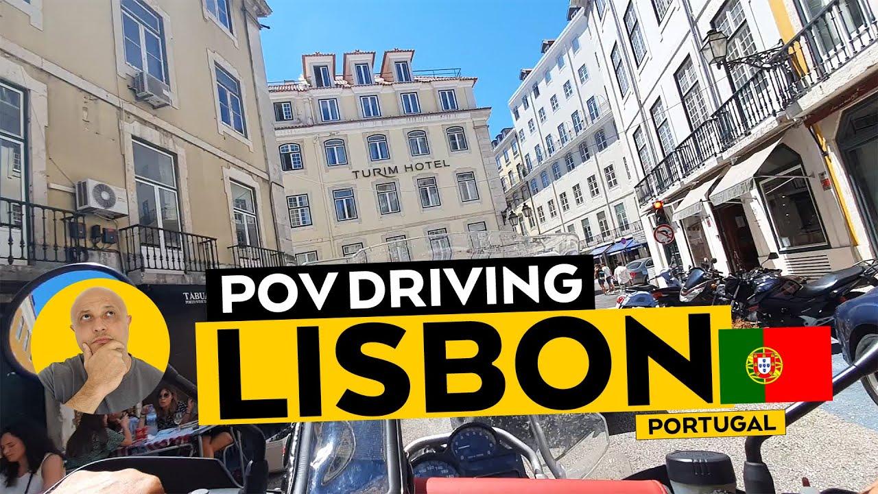 Lisbon, Portugal - POV Driving BMW GS1200 Adventure