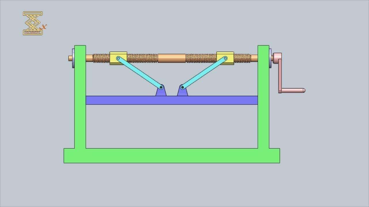 Mechanism Wheel Lever : Lever screw press mechanism youtube