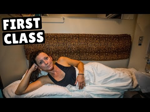 First Class OVERNIGHT TRAIN Across Ukraine (she was not impressed)