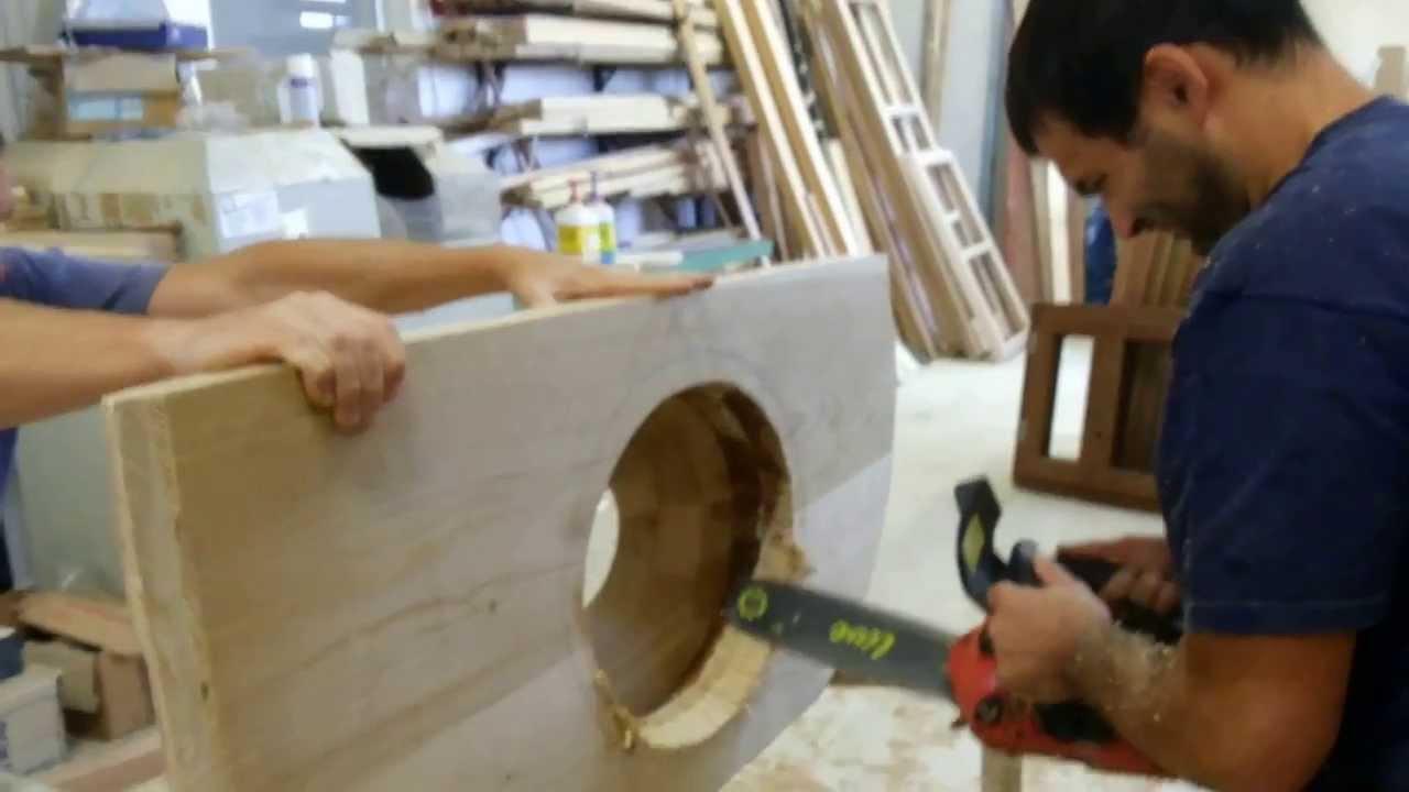 come ti costruisco un lavandino in legno - YouTube