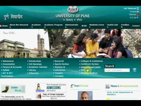 www.unipune.ac.in | University of Pune | Results | Admissiom