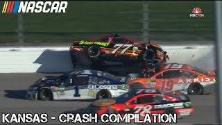Nascar - 2017 - Kansas - Crash Compilation