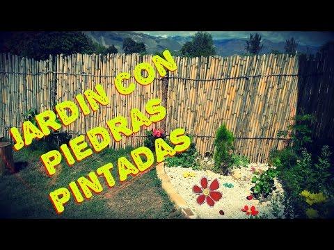 Decoraci n de jardines con piedras piedras pintadas para for Balancines de madera para jardin