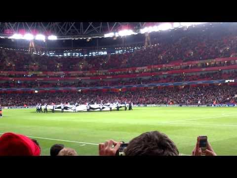 Champions League night at the Emirates Stadium