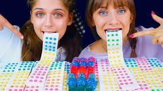ASMR Candy BUTTONS RACE with Candy Pops | Eating Sound Lilibu