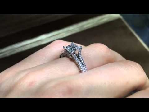 1.21ct Princess Cut Diamond Engagement Ring