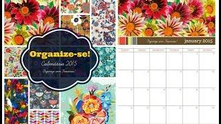 Organize-se! Calendário Decor 2015 para imprimir Thumbnail