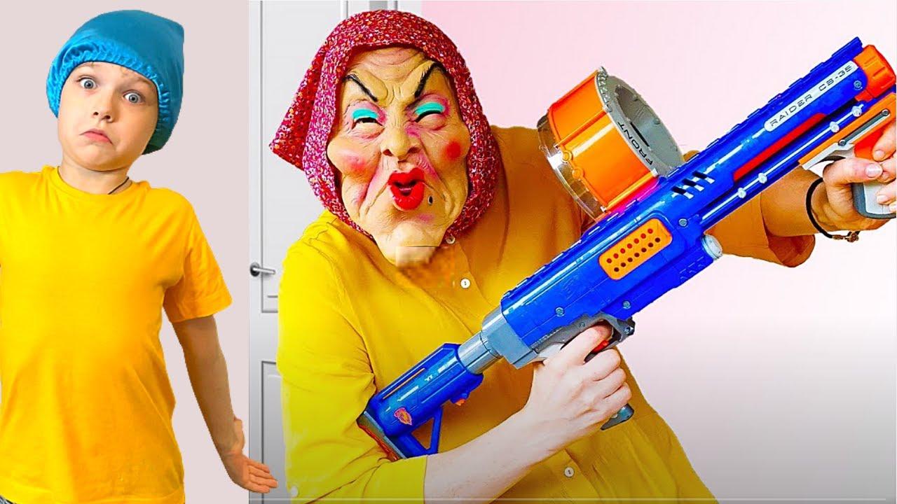 Няня и  веселая история забавных детей | Правила поведения для детей