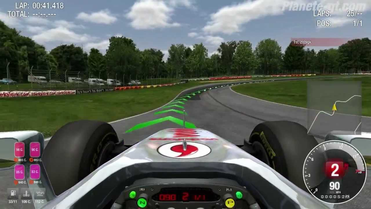 simraceway gameplay - mclaren mp4-27 formule 1 - youtube