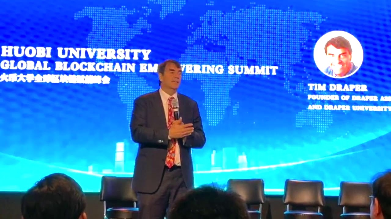 Tim Draper Discussing Blockchain and Cryptocurrency at Huobi Blockchain Summit 8