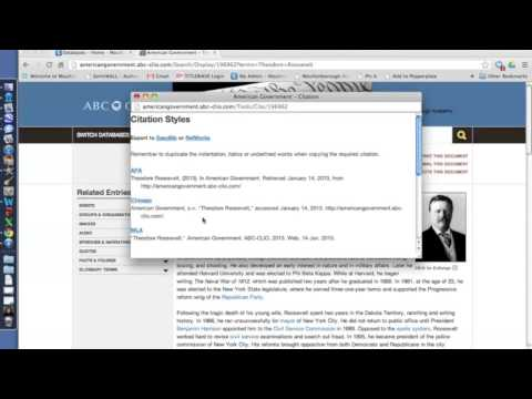 2 Minute Tutorial - ABC-CLIO, Pt. 3: Citing Your Sources