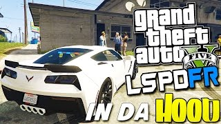 GTA 5 LSPDFR #21 - | CRAZY UNMARKED CORVETTE COP CAR | LSPDFR IN DA HOOD |