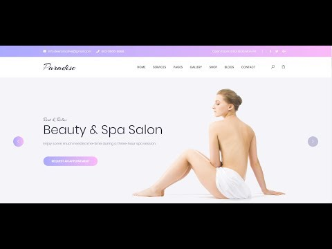Paradise Themeforest PSD To HTML With Bootstrap 4 & Sass Part-9 (Slider Area)