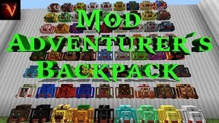Minecraft | REVIEW DEL ADVENTURERS BACKPACK MOD! SUPER MOCHILAS!!!