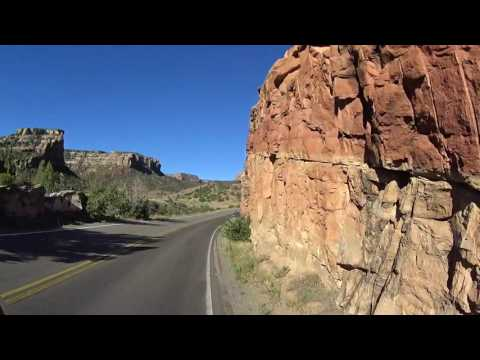 Scenic indoor cycling Colorado National Monument gate to gate