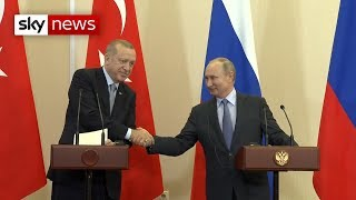 Turkey and Russia strike deal over Syria