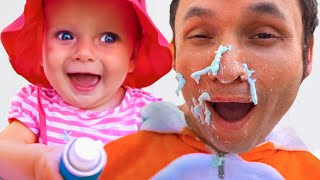 This is the way we wash the playhouse | Nursery Rhymes & Kids Songs