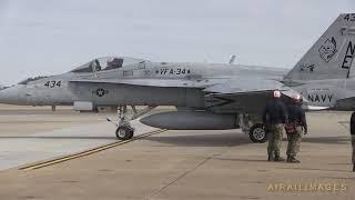 F/A-18 Legacy Hornet Last USN Ops Flight Ceremony - Feb 2019