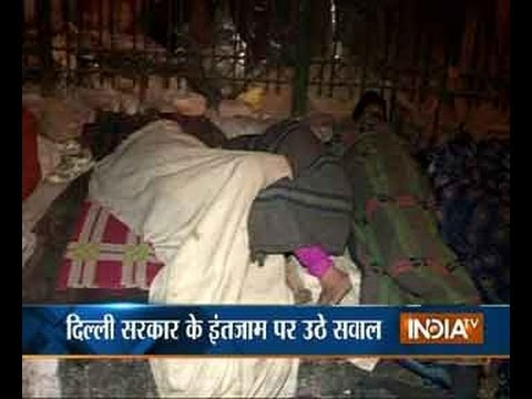 India TV does a reality check of night shelters in Delhi