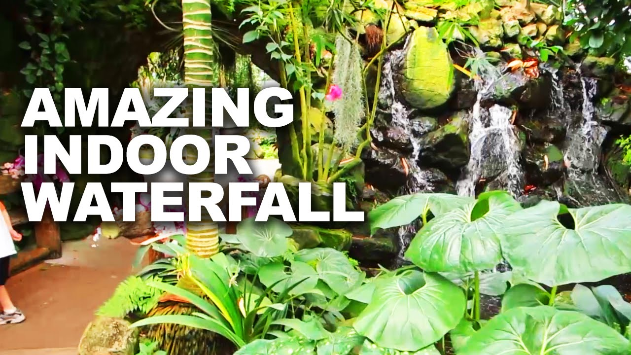 AMAZING INDOOR WATERFALL AT TRIP TO THE LANDSCAPE STORE