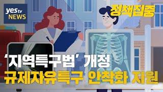 [yestv뉴스]  '지역특구법' 개정…규제자유특구 안착화 지원