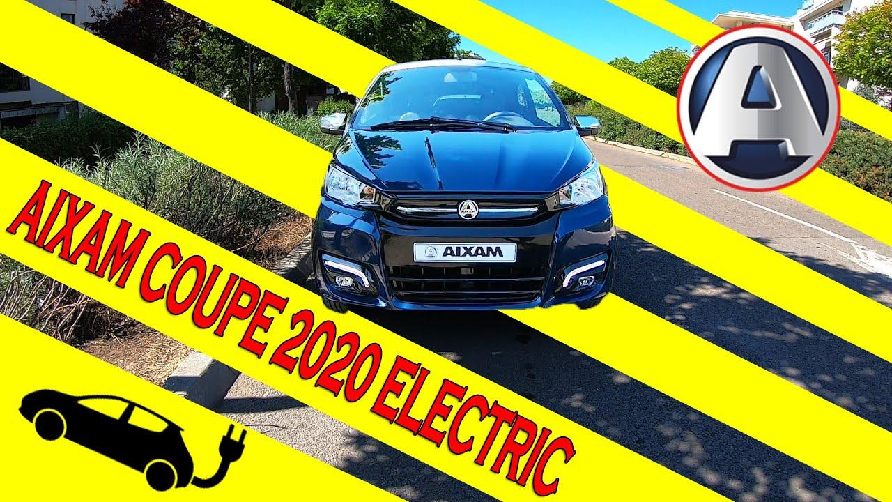 AIXAM e-COUPE 2020 - MASINA ELECTRICA pe care o POTI CONDUCE  la 16 ANI!!!