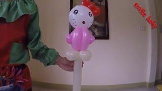 Nghệ thuật bong bóng hình mèo kitty | chú hề hướng dẫn làm bong bóng nghệ thuật kitty | smile baby