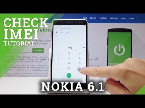 How To Check IMEI Number In Nokia 6.1 - Read Serial Number