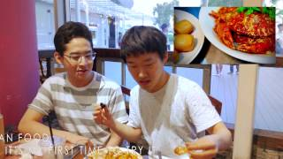 Korean students eating chilli crab - Food opera - food review - vivo city singapore