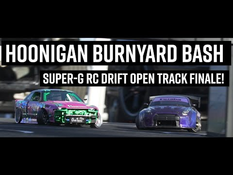RC DRIFT AT HOONIGAN BURNYARD BASH FINALE // Super-G Open Track Booth 2020