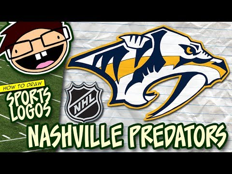 How to Draw the NASHVILLE PREDATORS Logo (NHL) | Narrated Easy Step-by-Step Tutorial