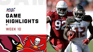 Cardinals vs. Buccaneers Week 10 Highlights | NFL 2019
