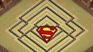 Clash Of Clans - TH 10 SuperMan War Base - 275 Walls