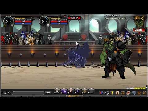 AQW- Death Arena- DeathPit Quest - FULL Walkthrough! XD !!