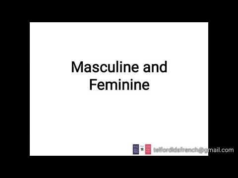 Masculine and Feminine in French