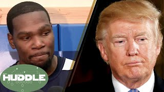 Kevin Durant Says NEVER to Visiting the White House -The Huddle
