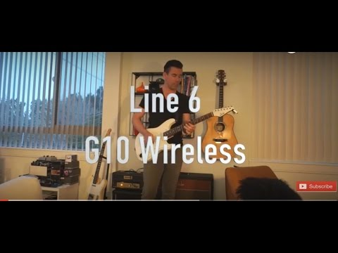 Line 6 Relay G10 guitar wireless, demo by Pete Thorn