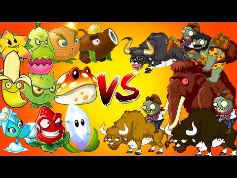 Plants vs Zombies 2 Gameplay Every OP Plants Power UP vs Animal Zombies and Gargantuar Primal PVZ 2