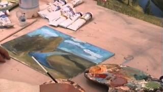 как начать рисовать масляными красками. пейзаж (часть 3(Масло, рисование,урок рисунка, учу, учимся, учиться, учитель, учеба, репетитор, частные уроки, педагог, рисуно..., 2012-03-26T23:18:53.000Z)