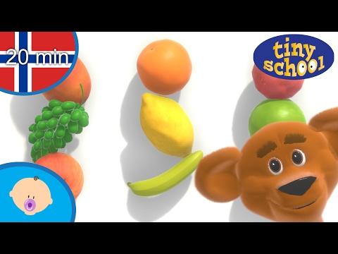Lær navn på frukt og mer for småbarn og babyer - Frukt navn for barn - Tinyschool Norsk
