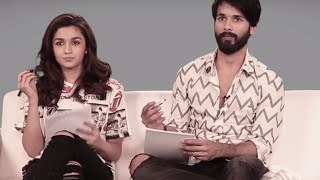 alia bhatt shahid kapoor   find out how well they know each other   shaandaar   bff test