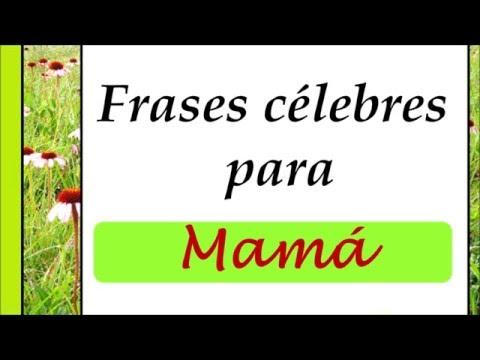Frases célebres para mamá. Bellas palabras para una madre.