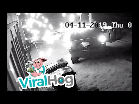 Sparks Fly In Late Night Accident || ViralHog